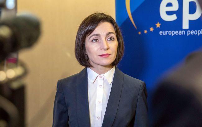 Санду виступила за відставку уряду і дострокові вибори в Молдові