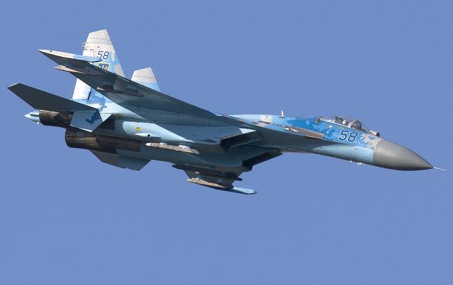 Падение истребителя СУ-27: появилось фото с места крушения