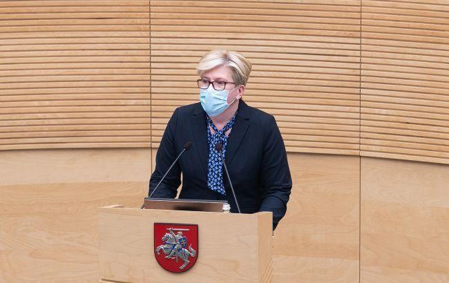 Прем'єр Литви закликала ЄС ввести економічні санкції проти влади Білорусі