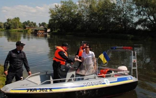 Фото: Деканоидзе посетила Вышгородский учебный центр, где начала работу водная полиция