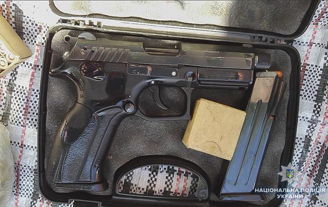 Фото: изъятое оружие (пресс-служба Нацполиции Украины)