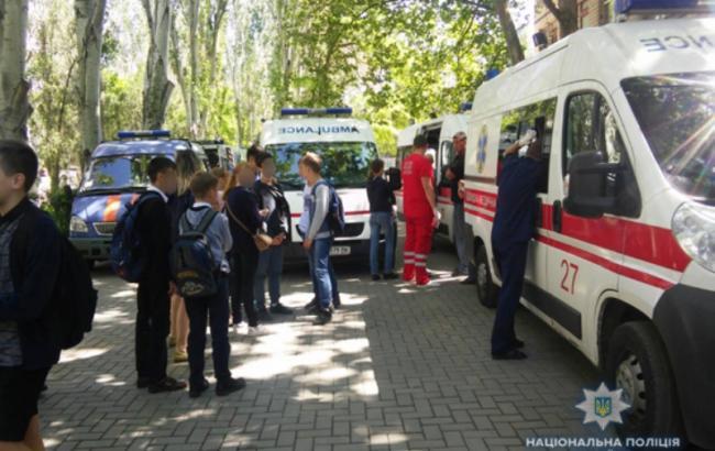 Фото: эвакуация детей в школе Николаева (mk.npu.gov.ua)