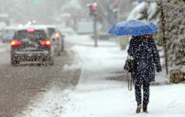 ГСЧС предупредила оснегопаде игололеде вчетырех областях Украины