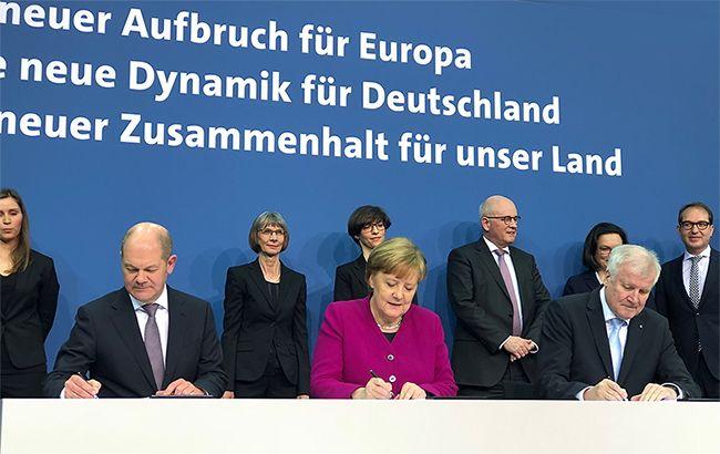 ВФРГ социал-демократы иконсерваторы подписали соглашение осоздании коалиции