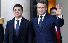 Во Франции начались переговоры Зеленского и Макрона
