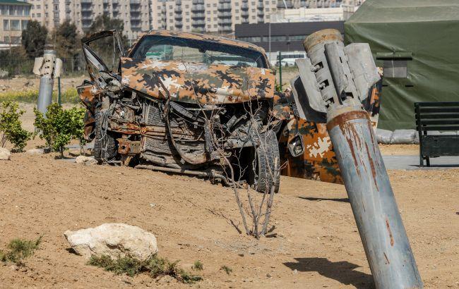 Військовий автомобіль Азербайджану підірвався на міні на кордоні з Вірменією