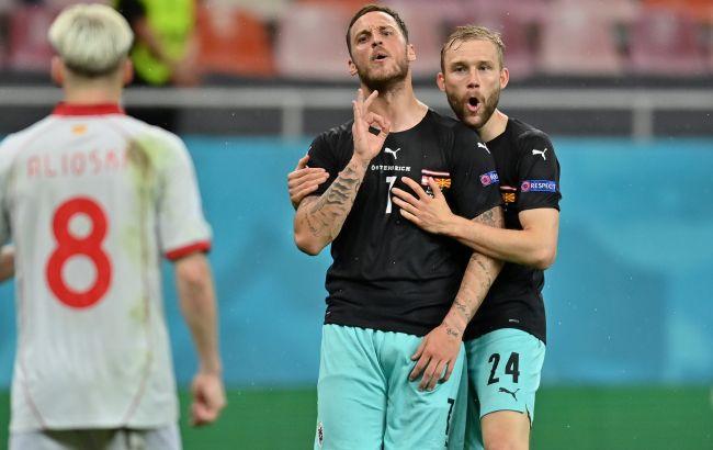 Форвард Австрии Арнаутович отстранен на один матч. Он оскорбил игрока Северной Македонии