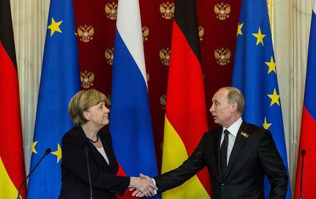 Меркель и Путин обсудили вопрос урегулирования ситуации в Украине
