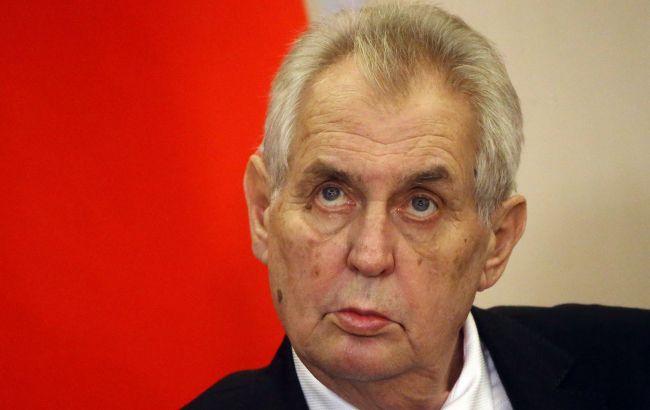 Президент Чехії завтра виступить з надзвичайним зверненням