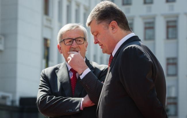 Порошенко і Юнкер узгодили подальші кроки для запровадження безвізового режиму з ЄС