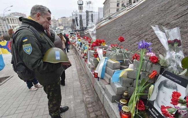 Фото: в Украине почтили память героев Небесной сотни