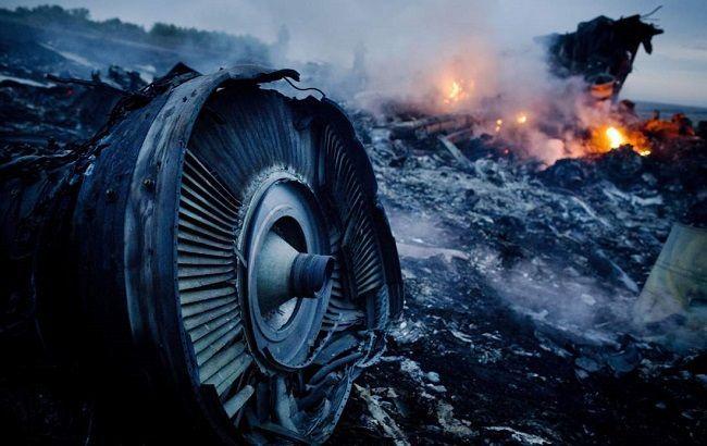 Фото: место крушения Боинг 777