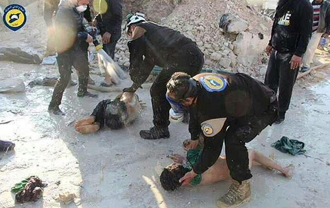 Фото: эксперты доказали причастность войск Асада к химатакам в Сирии (gmx.ch)
