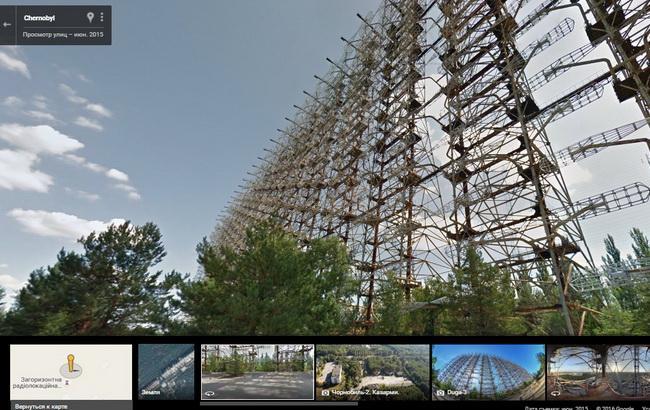 "Фото: Чорнобильська зона на Картах Google (прес-служба ""Гугл Україна"")"