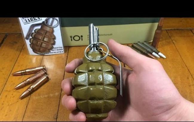 Фото: Подобную гранату нашел в своем авто киевлянин (youtube.com)
