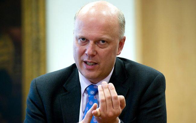 Фото: міністр транспорту Британії Кріс Грейлінг
