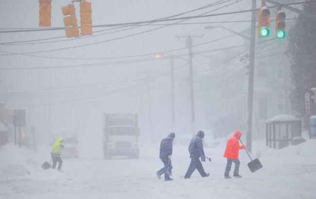 Фото: снежная буря в США