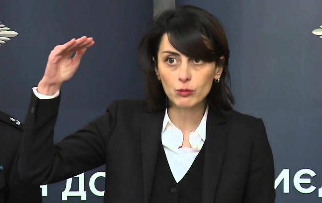 Фото: глава Національної поліції України Хатія Деканоїдзе