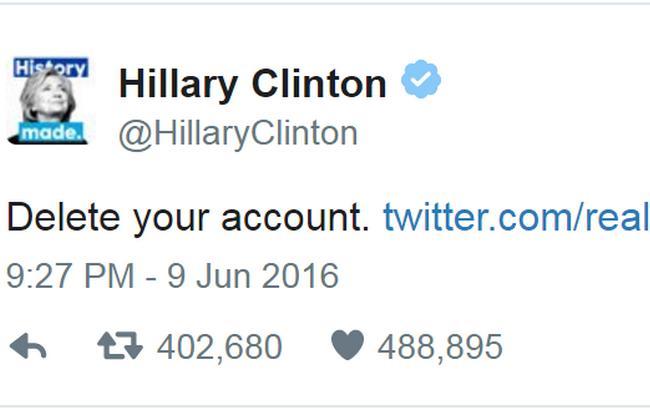 Клінтон встановила рекорд у Twitter після випаду на адресу Трампа