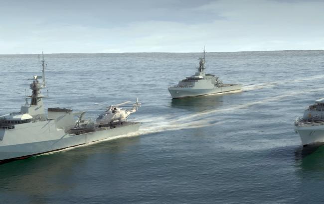 Фото: Латвія зафіксувала біля своїх берегів військові кораблі РФ