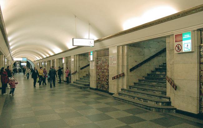 ВКиеве «заминирована» станция метро «Хрещатик»