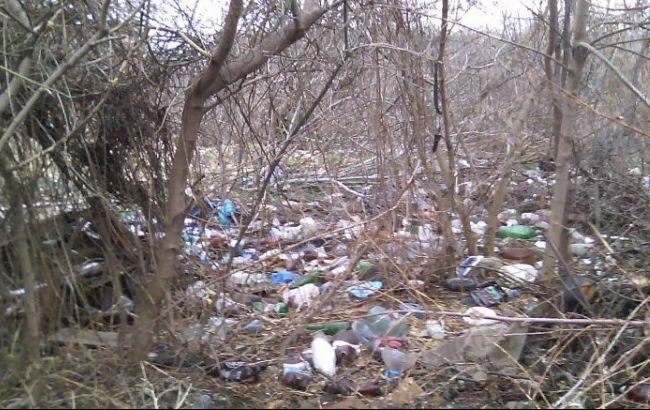 Фото: підприємець влаштував під Борисполем звалище