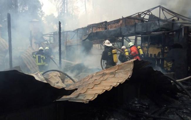 Фото: Пожежа в ресторані (dsns.gov.ua)
