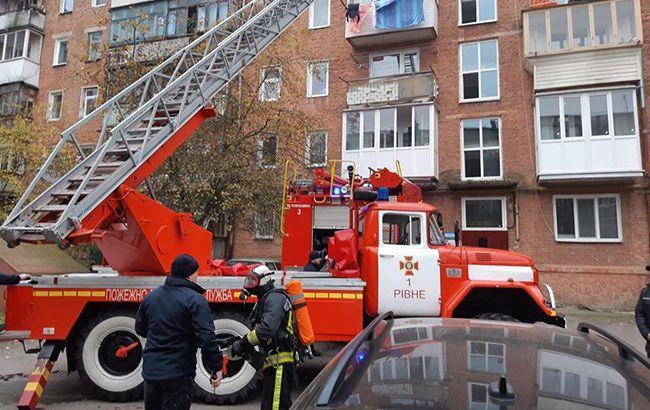 В Ровно из-за пожара эвакуировали жителей многоэтажки