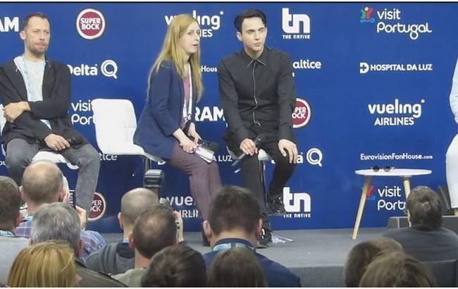 Фото: MELOVIN на прес-конференції (Скріншот з відео)