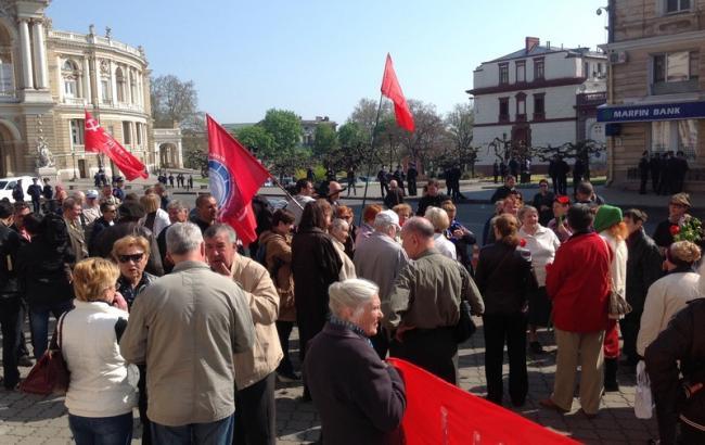 Фото (Перший міський): першотравневий мітинг в Одесі