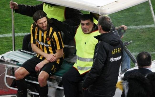 Чигринский получил травму вовтором матче после возвращения наполе