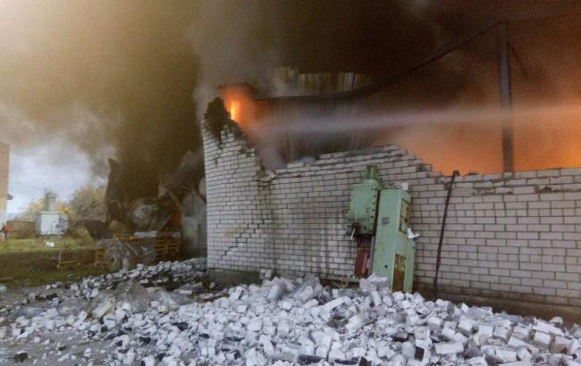 Фото: пожежа під Києвом