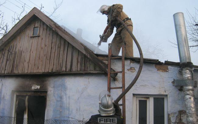 Фото: ликвидация пожара в Херсонской области