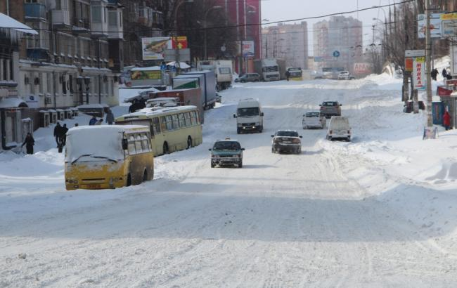 Фото: у столиці сьогодні ожеледиця на дорогах