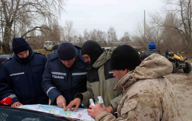 Фото: Поисковая операция (kyivobl.dsns.gov.ua)