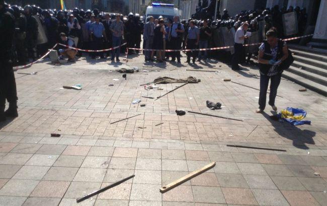 В ході зіткнень під ВРУ постраждали 124 правоохоронця, - МВС