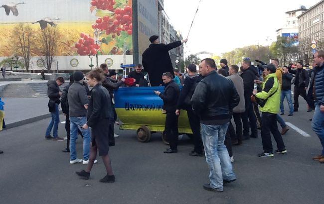 Движение транспорта возле Минэнерго восстановлено, - МВД