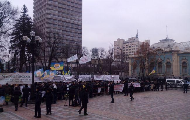 Фото: митинг под Радой