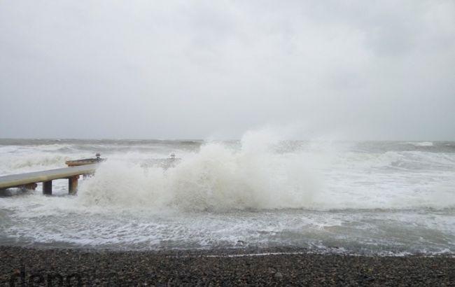 Фото: вітер на Чорному морі