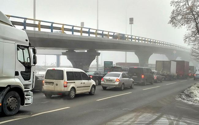Пробки в Киеве достигли 6 баллов