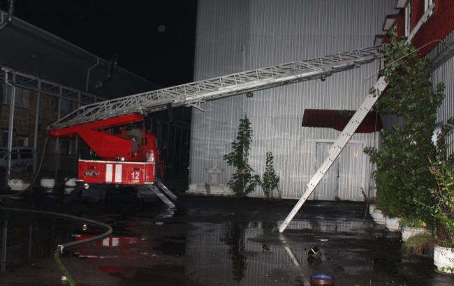 В Киеве горел офис одной из фармацевтических компаний