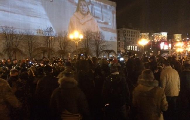 На Майдані сталася сутичка між активістами та правоохоронцями