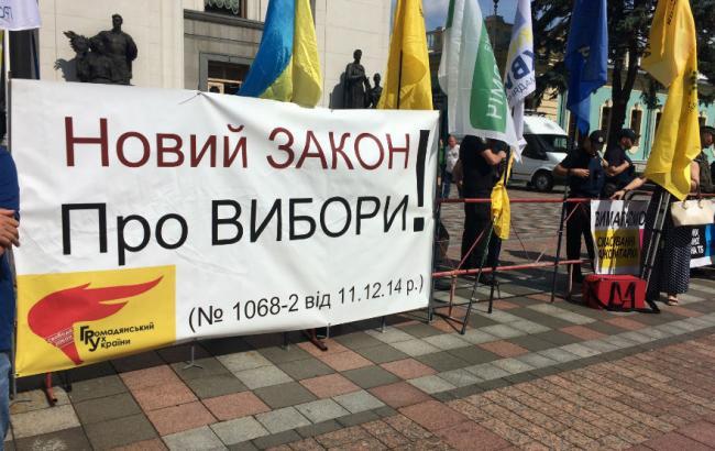 Фото: мітинг під ВРУ (РБК-Україна)
