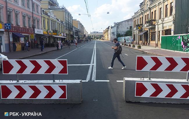 Фото: реорганизация дорожного движения (РБК-Украина)