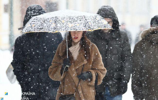 Дощ, сніг і ожеледь: прогноз погоди на три дні