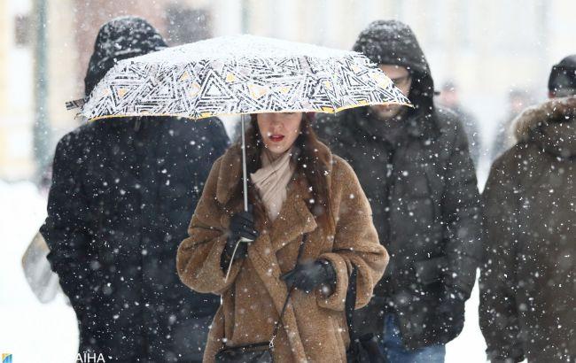 В Украине на следующей неделе ожидается до 8 см снега