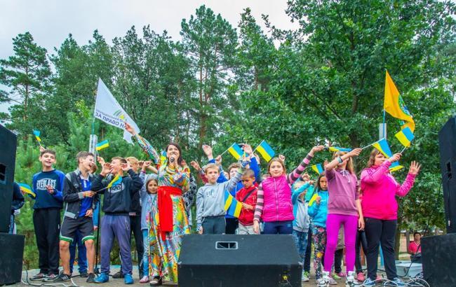 Фото: Дети из Луганской и Донецкой области в лагере под Киевом (Олег Божко)
