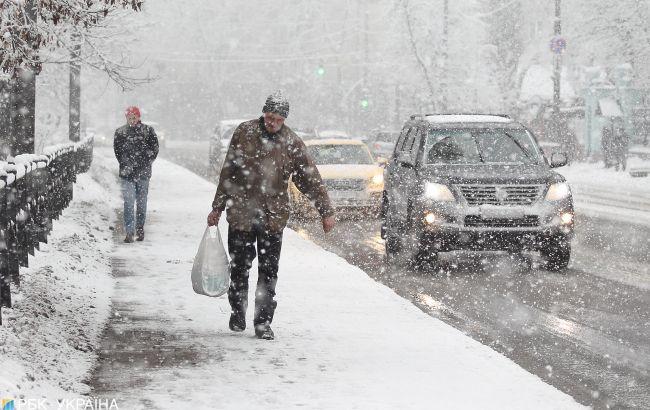 В некоторых областях Украины завтра ожидается снег
