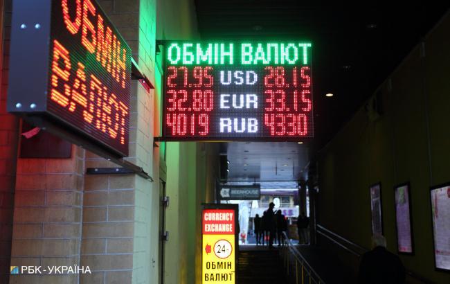 Долар подешевшав на готівковому ринку на 5 копійок, євро на 10 копійок
