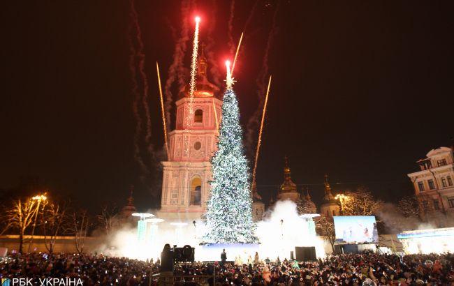 В новогоднюю ночь возле Софийской площади в Киеве ограничат движение транспорта
